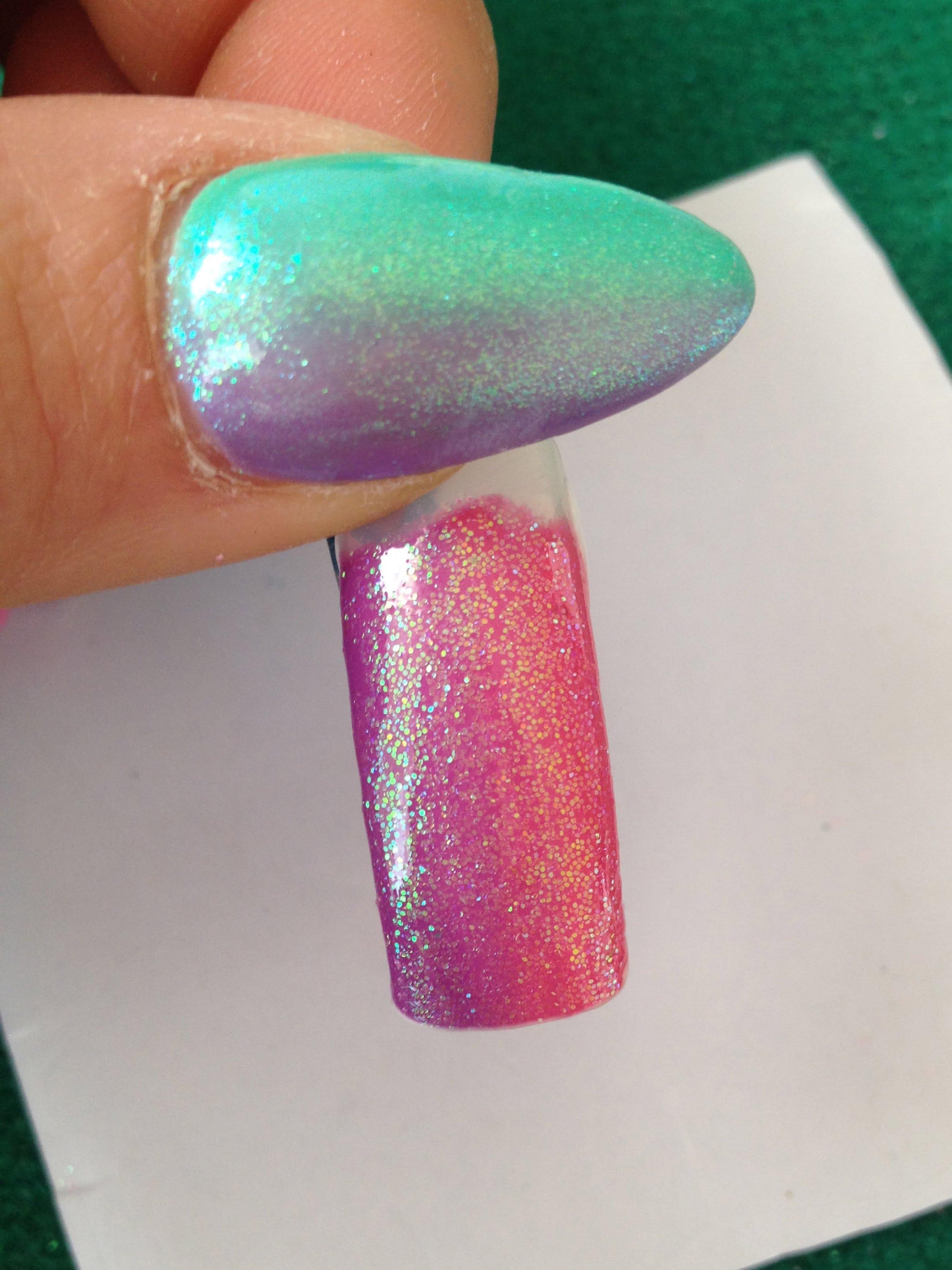 Pigmenti metallici polvere effetto specchio cromato camaleonte sirena - Unghie gel specchio ...